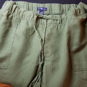 Gap Outlet linen blend utility pants large
